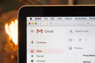 Web browser with Gmail open